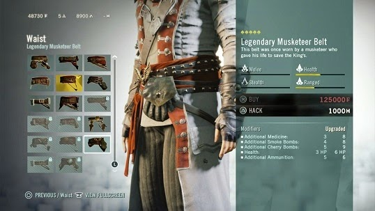 Assassin's Creed Unity Upgrades